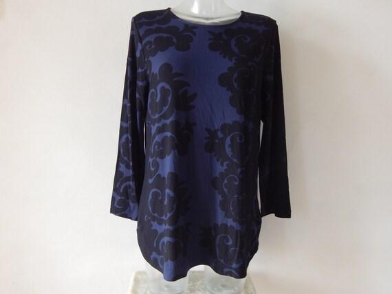 Marimekko Tunic/ Dress Blue Black Pattern Ladies l