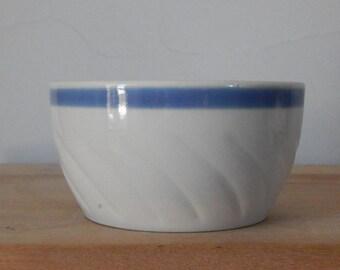 Soviet Vintage Bowl 1970-s / USSR/ Retro Home Decor Blue striped Bowl