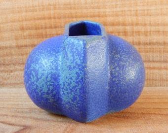 Soviet Vintage Ceramic Vase Blue Vase Made in USSR Soviet Estonia by ARS