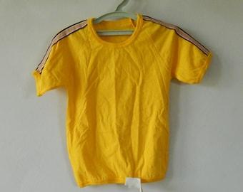 Soviet Vintage Kids Unisex Yellow T- Shirt, Unused, Made in USSR