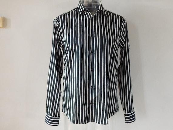 Marimekko Jokapoika shirt Black and white Long sl… - image 2