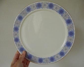 "Arabia of Finland Sun flower pattern  named ""Heili"", Raija Uosikkinen Plate White Ceramic 1960s"