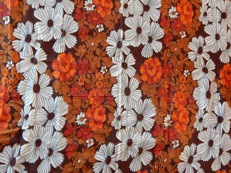 Vintage Fabric Russian Cotton Viscose Fabric Vintage Russian Fabric  for Sewing Home Textile 4.75 Yards