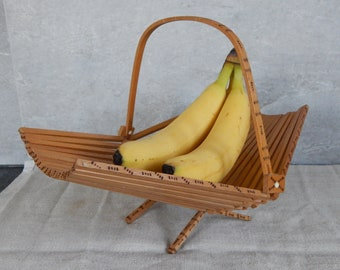 Vintage Wood Fruit Bowl Home Decor Wooden Tableware