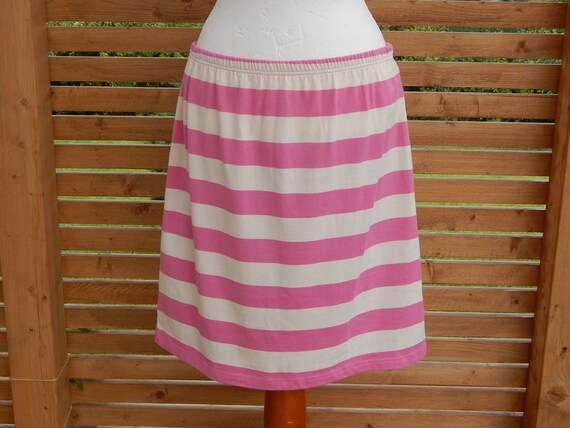 Marimekko MIKA PIIRAINEN Pink and White Striped Pa