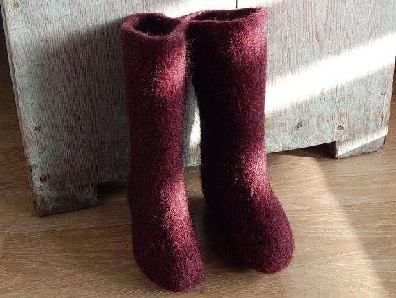 neuer Stil 05ff9 78ad3 Sowjetische Vintage Kinder Filz Stiefel Russische Walenki Retro Kleinkind  Schuhe kalte Winter Schuhe Wollfilz