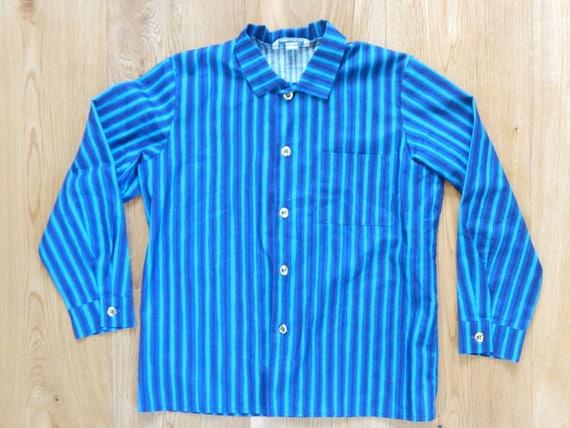 Marimekko Striped Jokapoika shirt Blue Turquoise L
