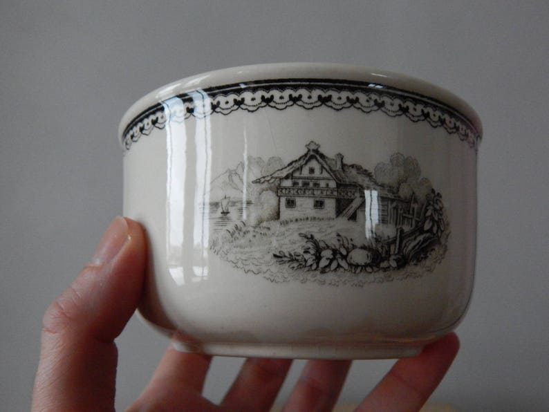 Villeroy /& Boch Alpina Sugar Bowl Mettlach Made in France Saar Economic Union