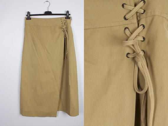 Corduroy Mustard Yellow Skirt / Corduroy Maxi Long