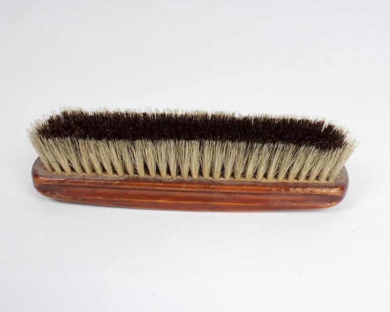 Vintage Wooden Shoe Brush Soviet Era Collectible Shoeshine Brush