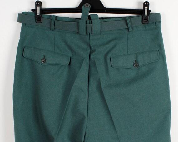 Vintage Herren Hosen klassische Hosen hohe Taille braun Hose grün Jahrgang hoher Taille Hose Rancher Hose