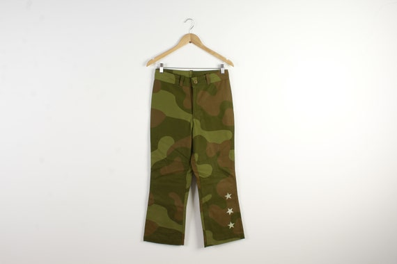 Pants Military Style Camouflage Print Jeans Milita
