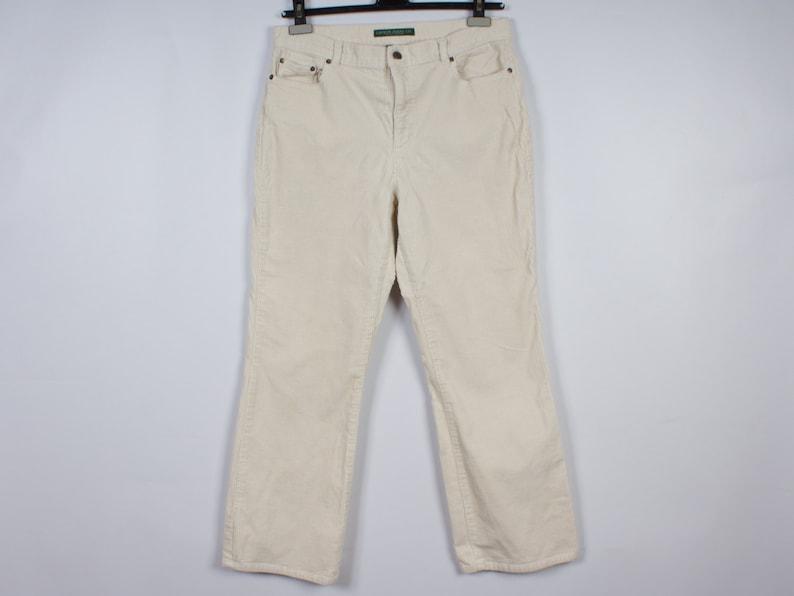 2ec7dc2a3 Ralph Lauren White Corduroy Pants Vintage Men Business Style