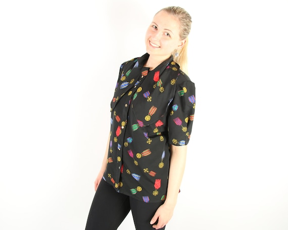 Vintage Black Shirt Vintage Womans Business Suit P