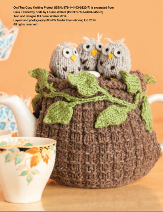 Owl Tea Cosy Knitting Pattern Download 803726 Etsy
