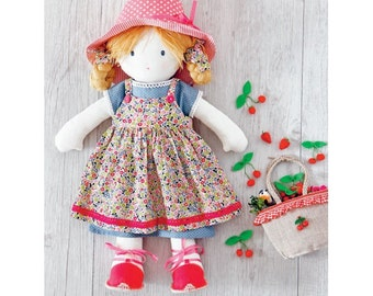 Strawberries  Dress Sewing Pattern For My Rag Doll (803533)