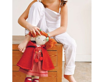 Doll in Red  Clolthes Sewing Pattern (803531)