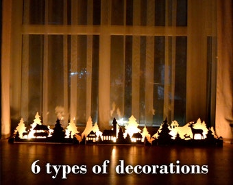 Christmas Decorations Fireplace Decor lights Nativity set Christmas Ornaments Mantle Decorations Halloween Christmas gifts