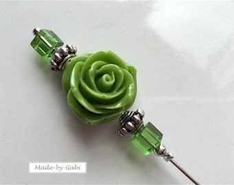Cloth needle green rose