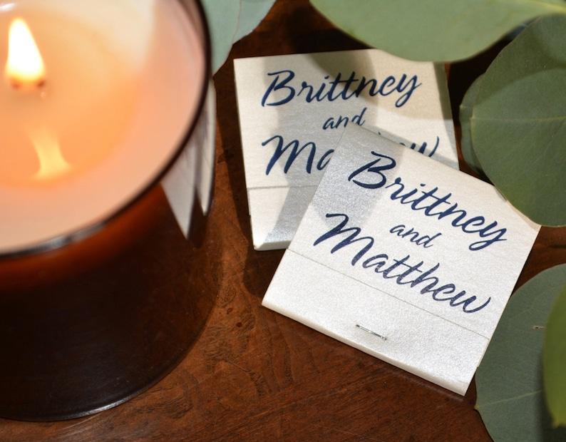 Custom Matchbooks  20 or 30 Strikes  Wedding Baby Shower image 0