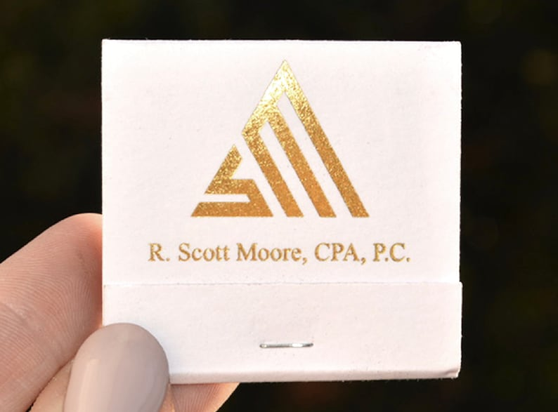 Corporate Logo Matchbooks  20 or 30 Strikes  Corporate image 0