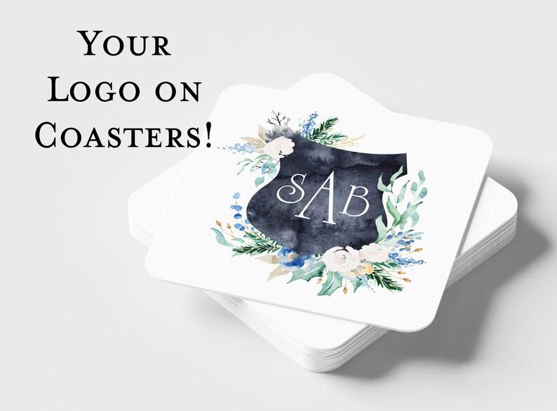 Custom Full Color Coasters  Wedding or Business Coasters  image 0