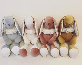 Velvet Bunny.. beautiful velveteen rabbit  various colours .