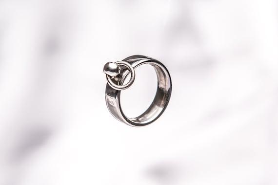 Ring der O Titan hochglanzpoliert individuell   Etsy