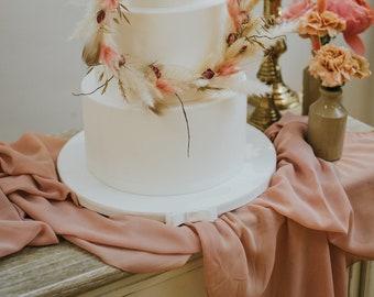 Chiffon Table Runner - Pink, Mauve, Blush