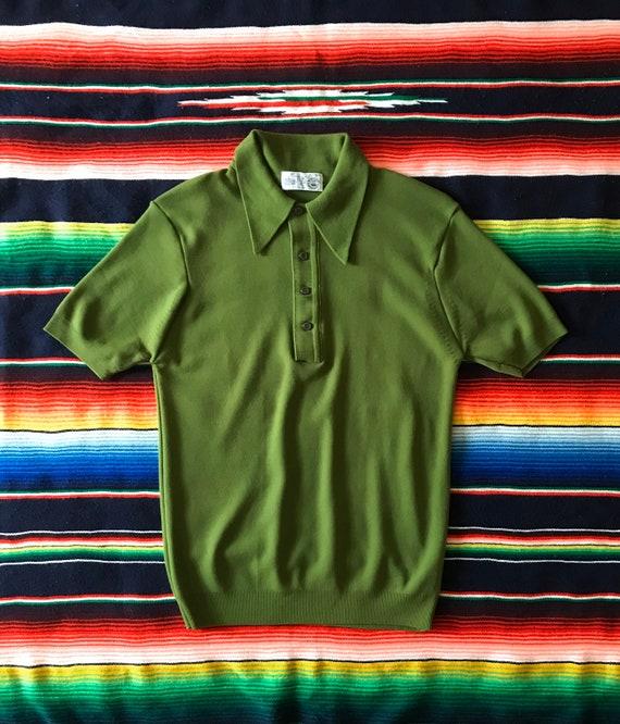 Vintage Knit Mod Top/Green Knit Mod Top/Vintage Kn