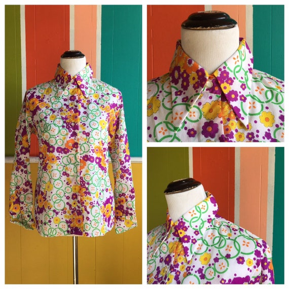 Vintage70s Miss Holly Blouse/Vintage 70s Polyeste… - image 1