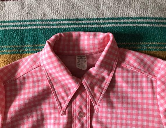 Vintage Gingham Shift Dress/Pink Gingham Dress/Vi… - image 3