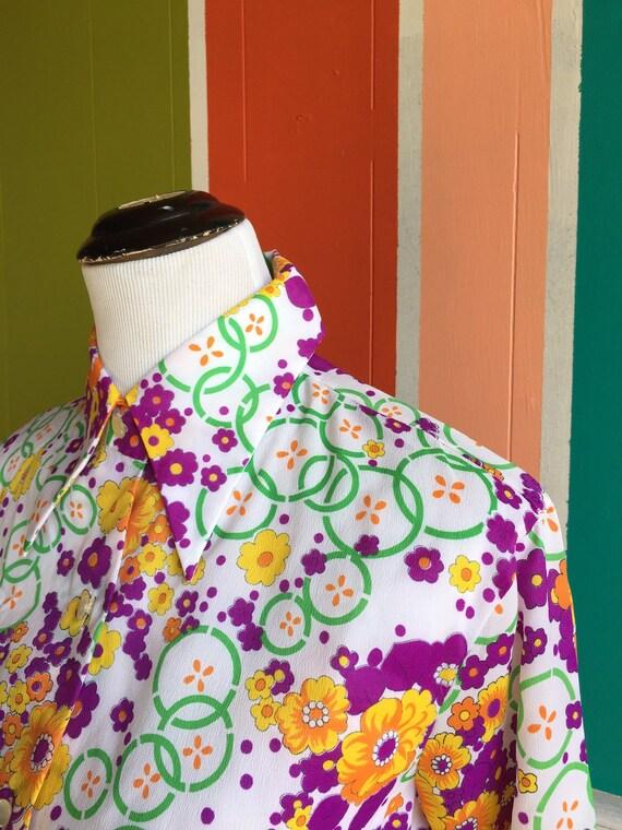 Vintage70s Miss Holly Blouse/Vintage 70s Polyeste… - image 5