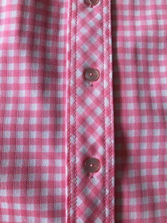 Vintage Gingham Shift Dress/Pink Gingham Dress/Vi… - image 5