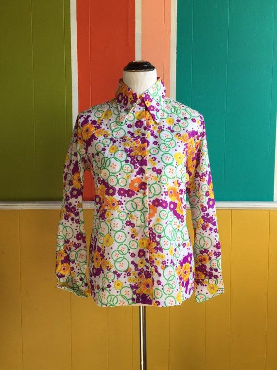 Vintage70s Miss Holly Blouse/Vintage 70s Polyeste… - image 2
