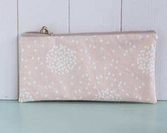 Ono-waxed cotton clutch bag