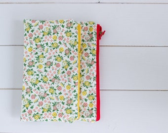 Eden and Amelia-waxed cotton clutch bag
