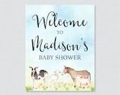 Farm Animal Baby Shower W...