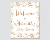 Gold Baby Shower Welcome ...