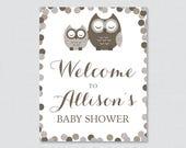 Brown Owl Baby Shower Wel...
