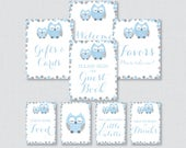 Printable Blue Owl Baby S...