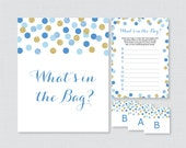 Blue Baby Shower Bags Gam...