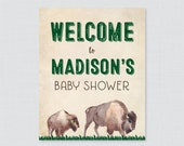 Bison Baby Shower Welcome...