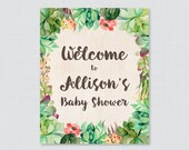 Succulent Baby Shower Wel...