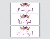 Purple Floral Printable C...