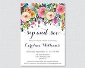 Floral Sip And See Invita...
