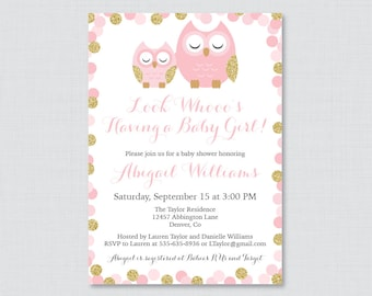 Owl baby shower invitation Etsy