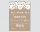 Sip And See Invitations -...