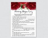Red Nursery Rhyme Quiz Ba...