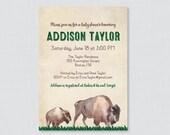 Bison Baby Shower Invitat...